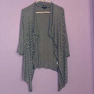 Kim & Cami size large striped open cardigan